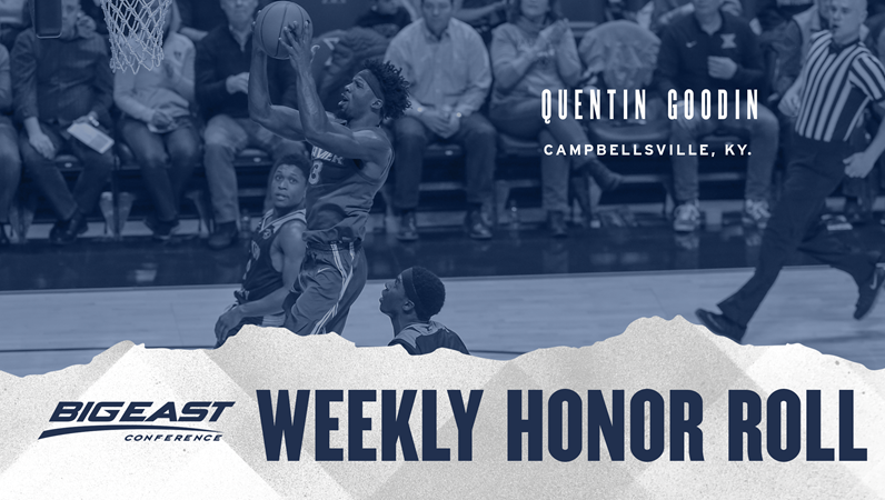 Quentin Goodin Earns BIG EAST Conference Honor - Xavier University Athletics