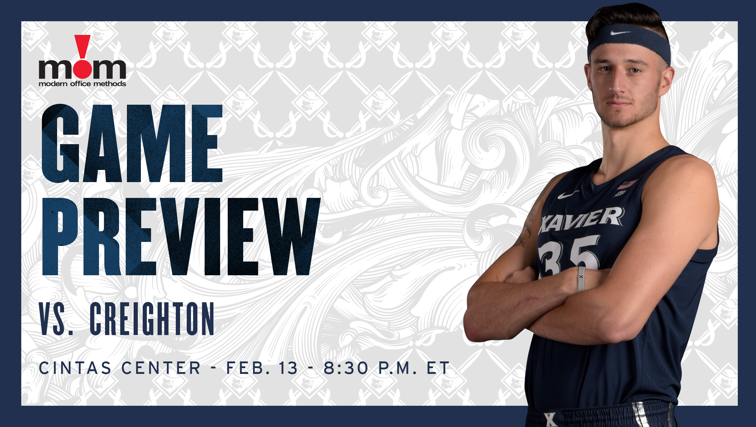 Men's Basketball Hosts Creighton On Wednesday Night In BIG EAST